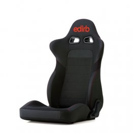 edirb 032 Reclining Racing Seat (Red Logo w/ Red Stitch)
