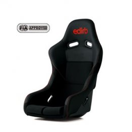 edirb 042 Bucket Racing Seat (Red Logo w/ Red Stitch)