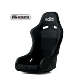 edirb 042 Bucket Racing Seat (Silver Logo w/ Silver Stitch)