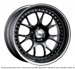 SSR Professor MS3 wheel 18 inch 5/100 Flat Black