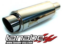 Tanabe Tuner Medalion Universal Muffler (Racing) 90mm Tip / 60mm Pipe