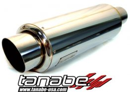 Tanabe Tuner Medalion Universal Muffler (Racing) 100mm Tip / 80mm Pipe