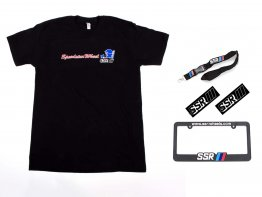 SSR 50th Anniversary T-Shirt, SSR Wheels License Plate Frame, Sticker, Lanyard Combo
