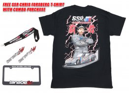 Tanabe License Plate Frame, Sticker, Lanyard Combo w/ FREE SSR T-Shirt