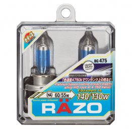 Razo Metal White Halogen Bulbs - H4(9003)