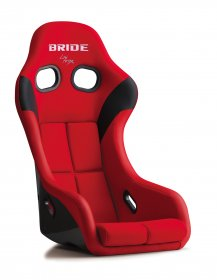Bride ZETA IV - Red (Super Aramid Black Carbon) *HANS COMPATIBLE