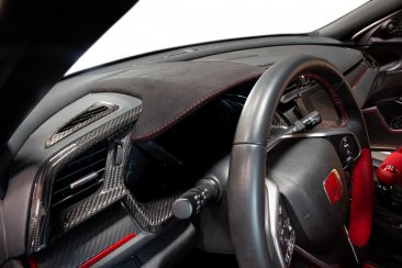 Revel GT Dry Carbon Center Dash Cover with Alcantara for 16-18 Honda Civic