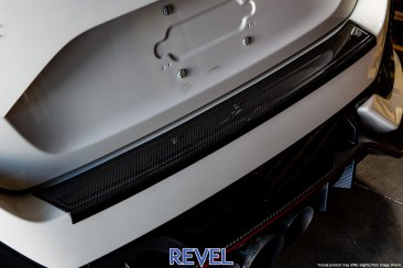 Revel GT Dry Carbon Rear Bumper Applique for 16-18 Honda Civic hatchback models