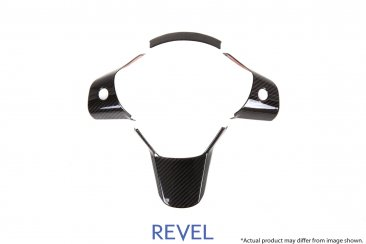 Revel GT Dry Carbon Steering Wheel Insert Covers for 16-19 Tesla Model 3